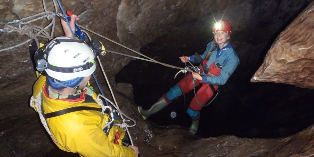 Ra Cave Skills Dolly Tubs Abseil