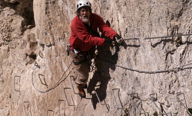 Ra Climbing Foreign France Via Ferata