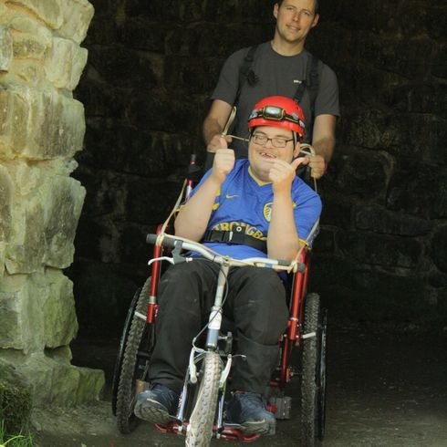 Ra Families Wheel Chair Caving