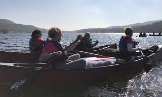 Ra Hen Rafted Canoe