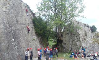 1 Ra Climbing Tilberthwaite 2